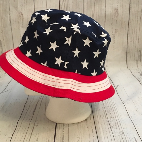 50c44c62cfe USA Flag America Stars Stripes Bucket Hat